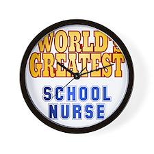 World's Greatest School Nurse Wall Clock
