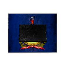 Grunge Vermont Flag Picture Frame