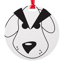 Peeved Puppy Ornament