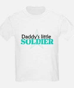 Daddy's Little Soldier Kids T-Shirt