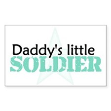 Daddy's Little Soldier Rectangle Decal