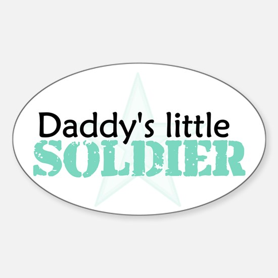 Daddy's Little Soldier Oval Decal