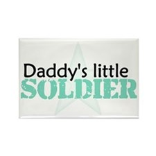 Daddy's Little Soldier Rectangle Magnet