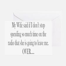 My Wife said Greeting Card