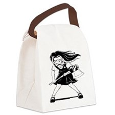 Angry Girl Canvas Lunch Bag