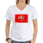 China Pride Women's V-Neck T-Shirt