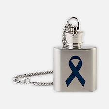 Blue Ribbon Flask Necklace