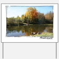 Autumn Pond Yard Sign