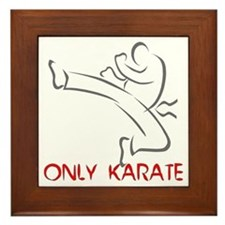 Only Karate Framed Tile