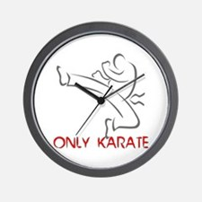 Only Karate Wall Clock