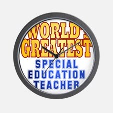 World's Greatest Special Education Teac Wall Clock