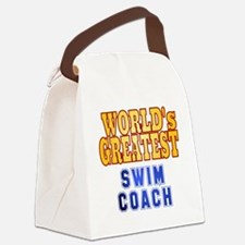 World's Greatest Swim Coach Canvas Lunch Bag