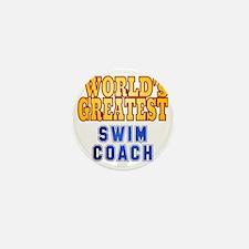 World's Greatest Swim Coach Mini Button