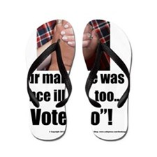 Our Marriage T-shirt White Flip Flops