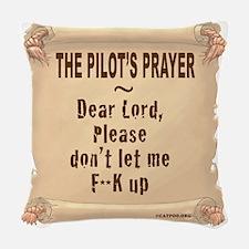 PilotPrayerFup12x12TRANSUSETHI Woven Throw Pillow