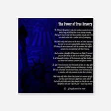 "The Power of True Bravery P Square Sticker 3"" x 3"""