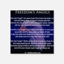 "Freedoms Angels Square Sticker 3"" x 3"""