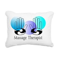 Massage Therapist blue Rectangular Canvas Pillow