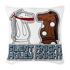 Silent Knight Woven Throw Pillow