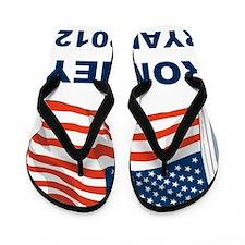 ROMNEY RYAN 2012 FLAGL Flip Flops
