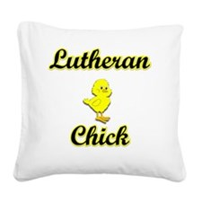 Lutheran Chick Square Canvas Pillow