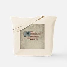 Vintage USA Flag Map Tote Bag