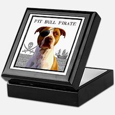 Pit Bull Pirate 2 Keepsake Box