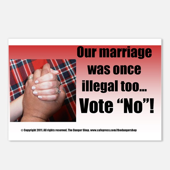 Our Marriage Sticker Colo Postcards (Package of 8)