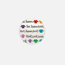 See Susan Knit Tote Mini Button