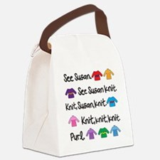 See Susan Knit Tote Canvas Lunch Bag