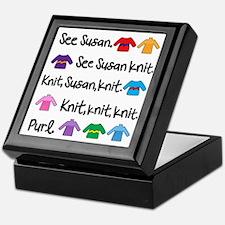 See Susan Knit Tote Keepsake Box