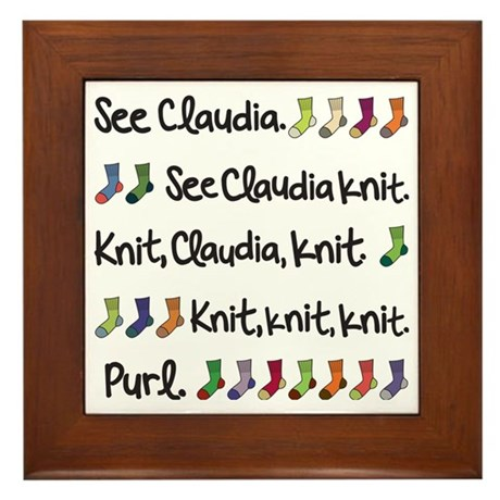 See Claudia Knit Tote Framed Tile