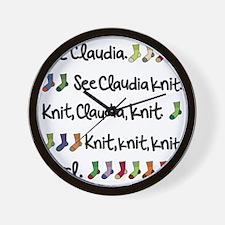 See Claudia Knit Tote Wall Clock