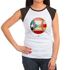 PR Beisbol / Baseball Women's Cap Sleeve T-Shirt