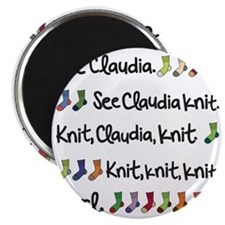 See Claudia Knit Tote Magnet