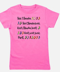See Claudia Knit Tote Girl's Tee