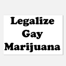 Legalize Gay Marijuana Postcards (Package of 8)