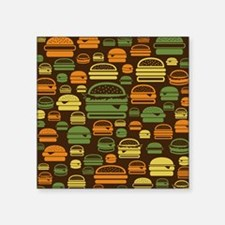 "Burger Pattern Square Sticker 3"" x 3"""