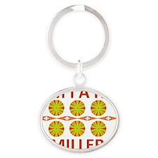 Miah Miller Oval Keychain