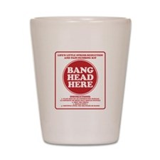Bang Head Here Stress Reduction Kit Shot Glass