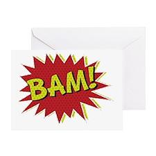 Comic Book BAM! Greeting Card