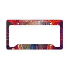 Created For Worship License Plate Holder