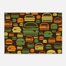 Burger Pattern 5'x7'Area Rug