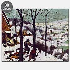 Pieter Bruegel Hunters in the Snow Puzzle