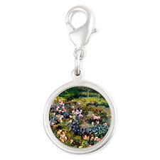 Pierre-Auguste Renoir Rose Gro Silver Round Charm