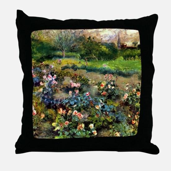 Pierre-Auguste Renoir Rose Grove Throw Pillow