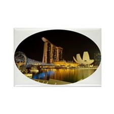 Singapore_5x3oval_sticker_Skyline Rectangle Magnet