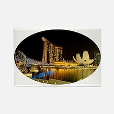 Singapore_5x3oval_sticker_Skyline Rectangle Magnet