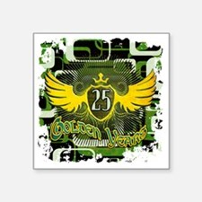 "Golden Years Square Sticker 3"" x 3"""