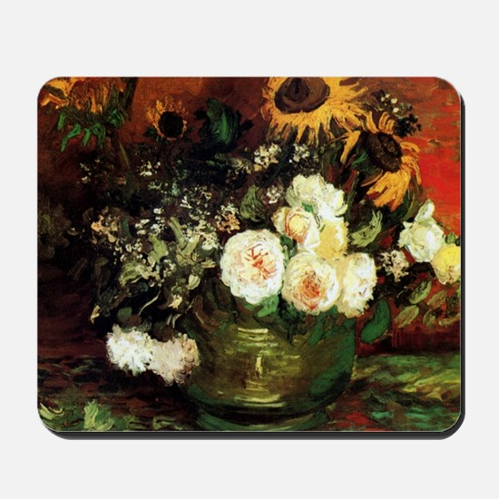 Roses And Sunflowers Mousepad
